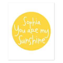 you are my sunshine personalized art print