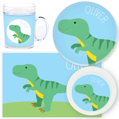 personalized mealtime set | T-Rex