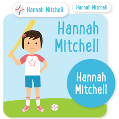 custom name labels | tball | girl