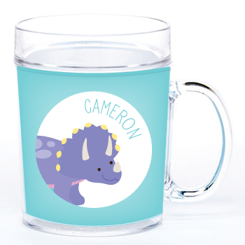 personalized cup | triceratops