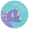 personalized plate | triceratops