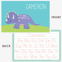 personalized kids placemat | triceratops