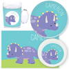 personalized mealtime set | triceratops