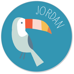 personalized kids plate | toucan