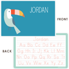 personalized kids placemat | toucan