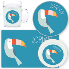 personalized mealtime set | toucan