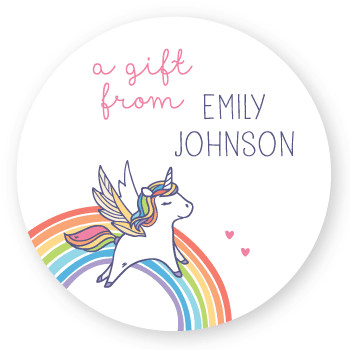 gift labels | rainbow unicorn