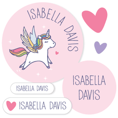 name labels | pink unicorn