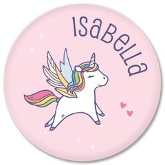 personalized kids plate | pink unicorn