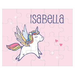 personalized puzzle | pink unicorn