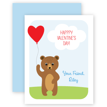 personalized valentines | bear