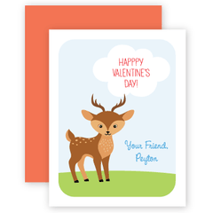 personalized valentines | deer