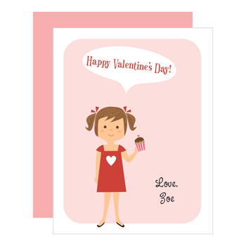 custom valentines | girl