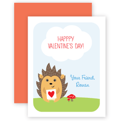 personalized valentines | hedgehog