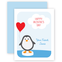 personalized valentines | penguin