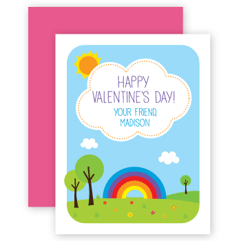 personalized valentines | rainbow