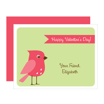 personalized valentines | bird