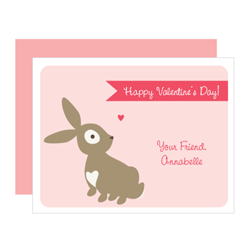 personalized valentines | bunny