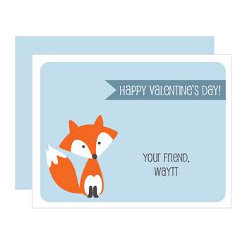 personalized valentines | fox