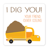 personalized Valentine's Day gift labels | dump truck