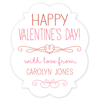 personalized Valentine's Day gift labels | fancy