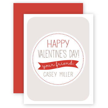 personalized valentines | gray