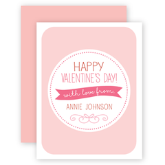 personalized valentines | pink