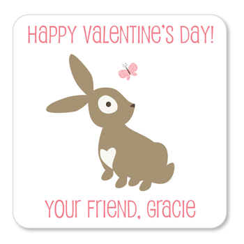 personalized Valentine's Day gift labels | bunny