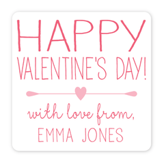 personalized Valentine's Day gift labels | pink
