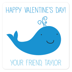personalized Valentine's Day gift labels | whale