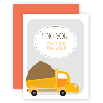 personalized valentines | dump truck