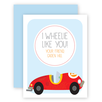 personalized valentines | race car