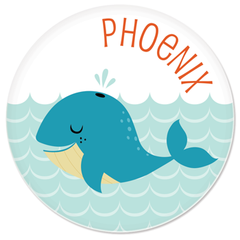 personalized plate | cheerful whale