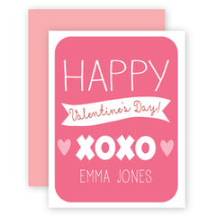 personalized valentines | xoxo pink