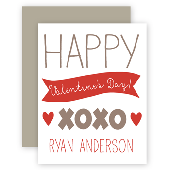 personalized valentines | xoxo red