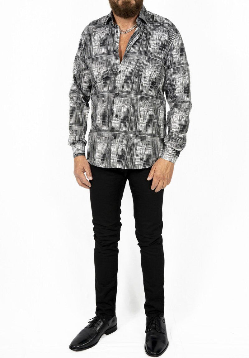 Black & White Retro 70's Shirt