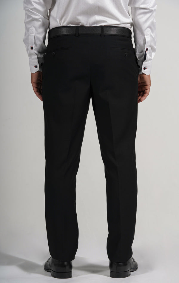 Cosiani Black Wool Blend Dress Pants