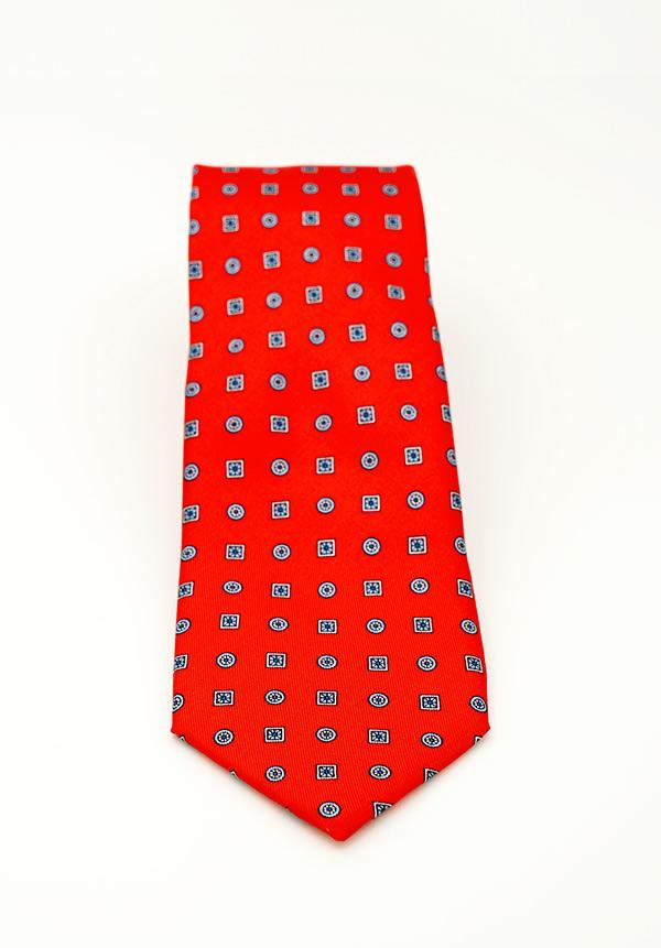 Candy Red Circled Silk Tie