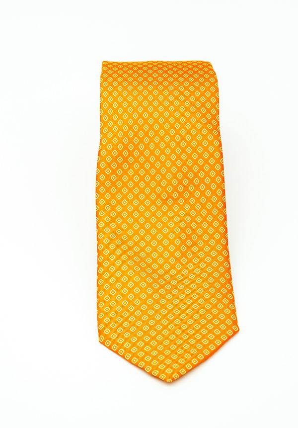 Orange Diamond Silk Tie