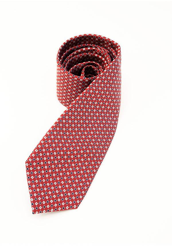 Cherry Red Square Silk Tie