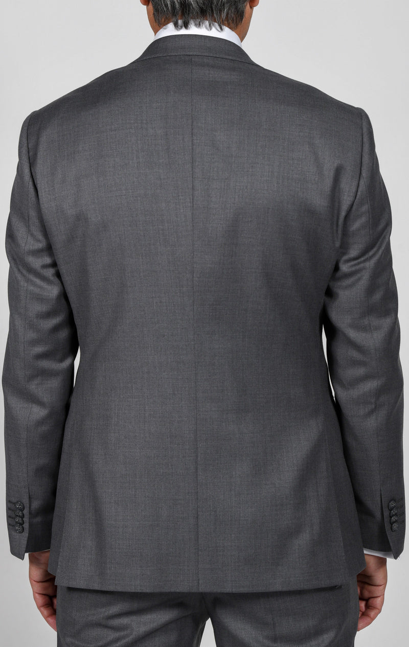 Cosiani Light Grey Slim Fit Wool Cashmere Suit