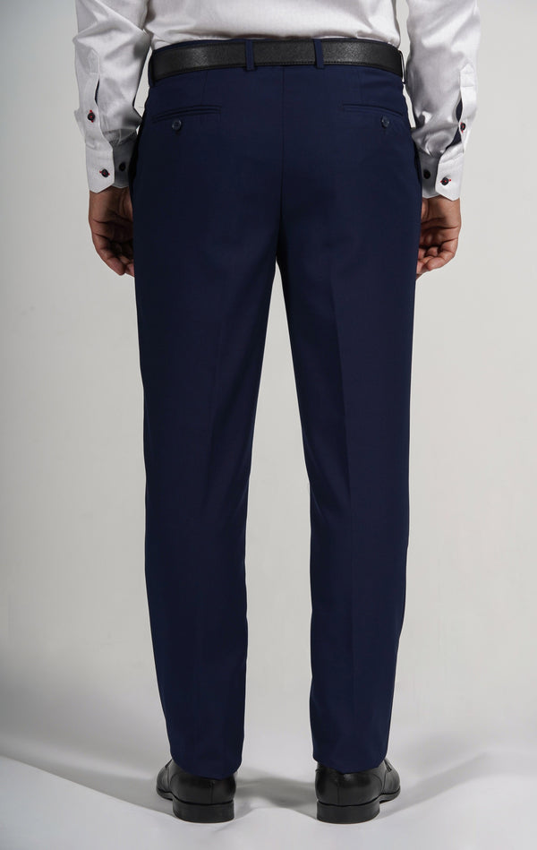 Cosiani Light Navy Wool Blend Dress Pants