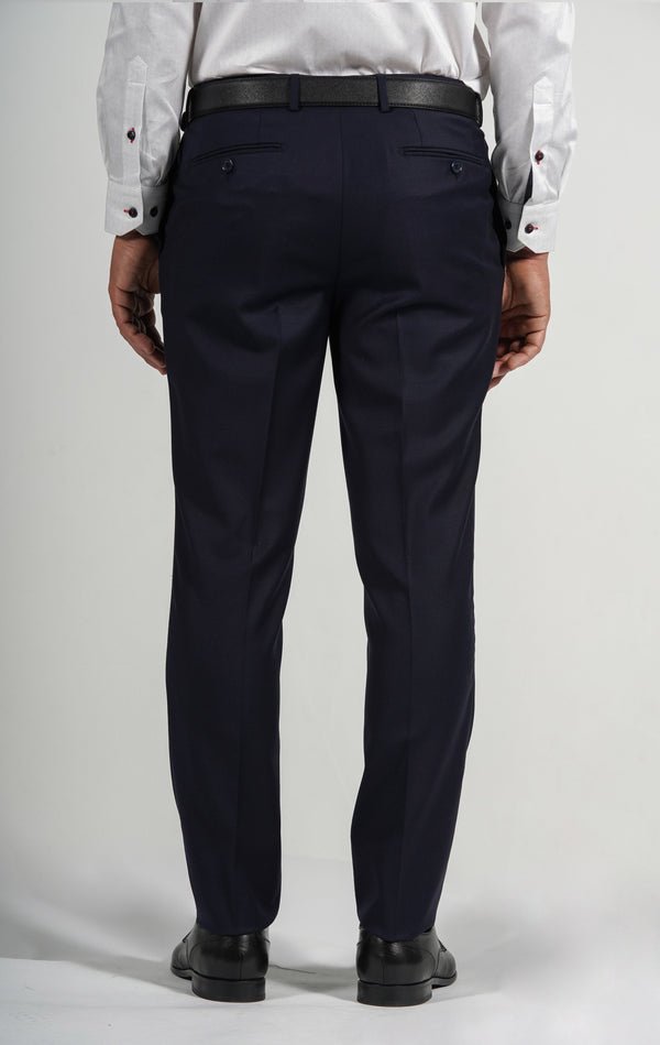 Cosiani Navy Wool Blend Dress Pants