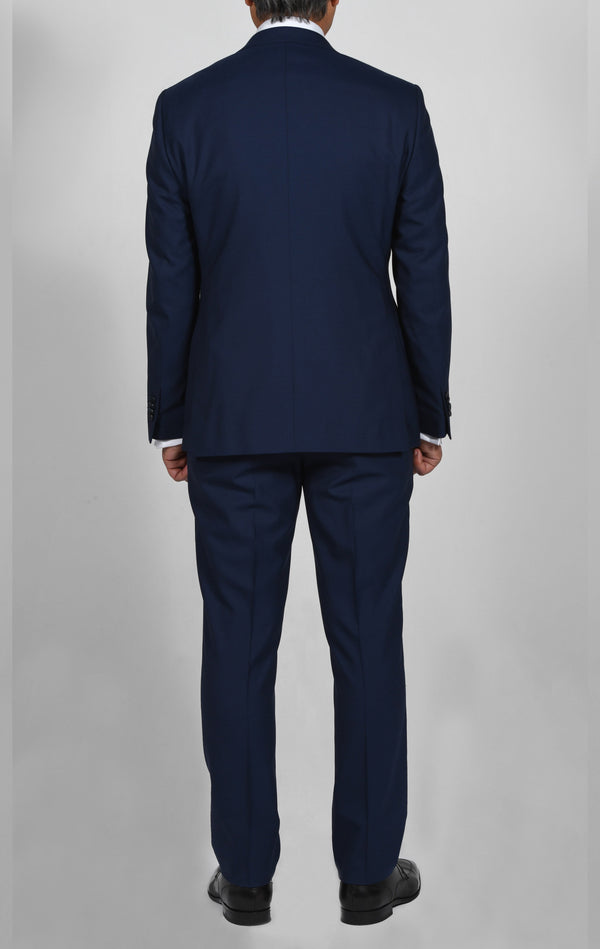 Cosiani Royal Blue Slim Fit Wool Cashmere Suit