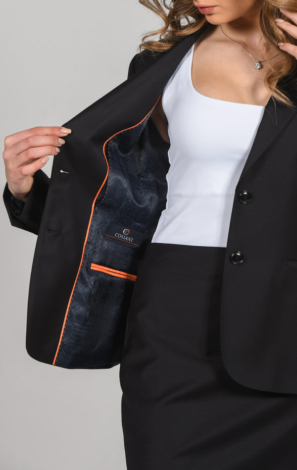 Cosiani Women's Black Wool Blazer
