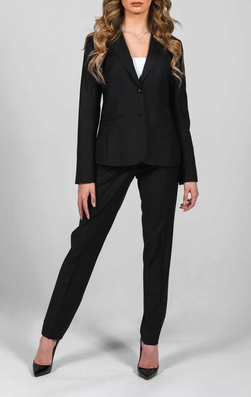 Cosiani Women's Black Wool Dress Pants