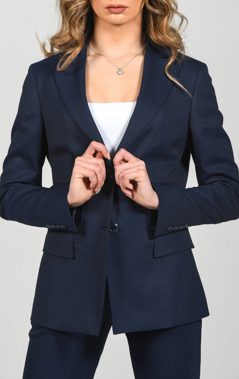 Cosiani Women's Blue Wool Blazer