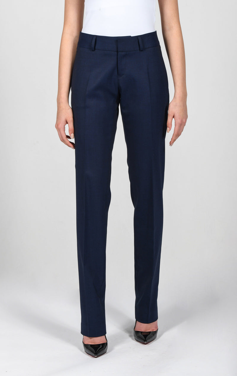 Cosiani Women's Blue Wool Dress Pants