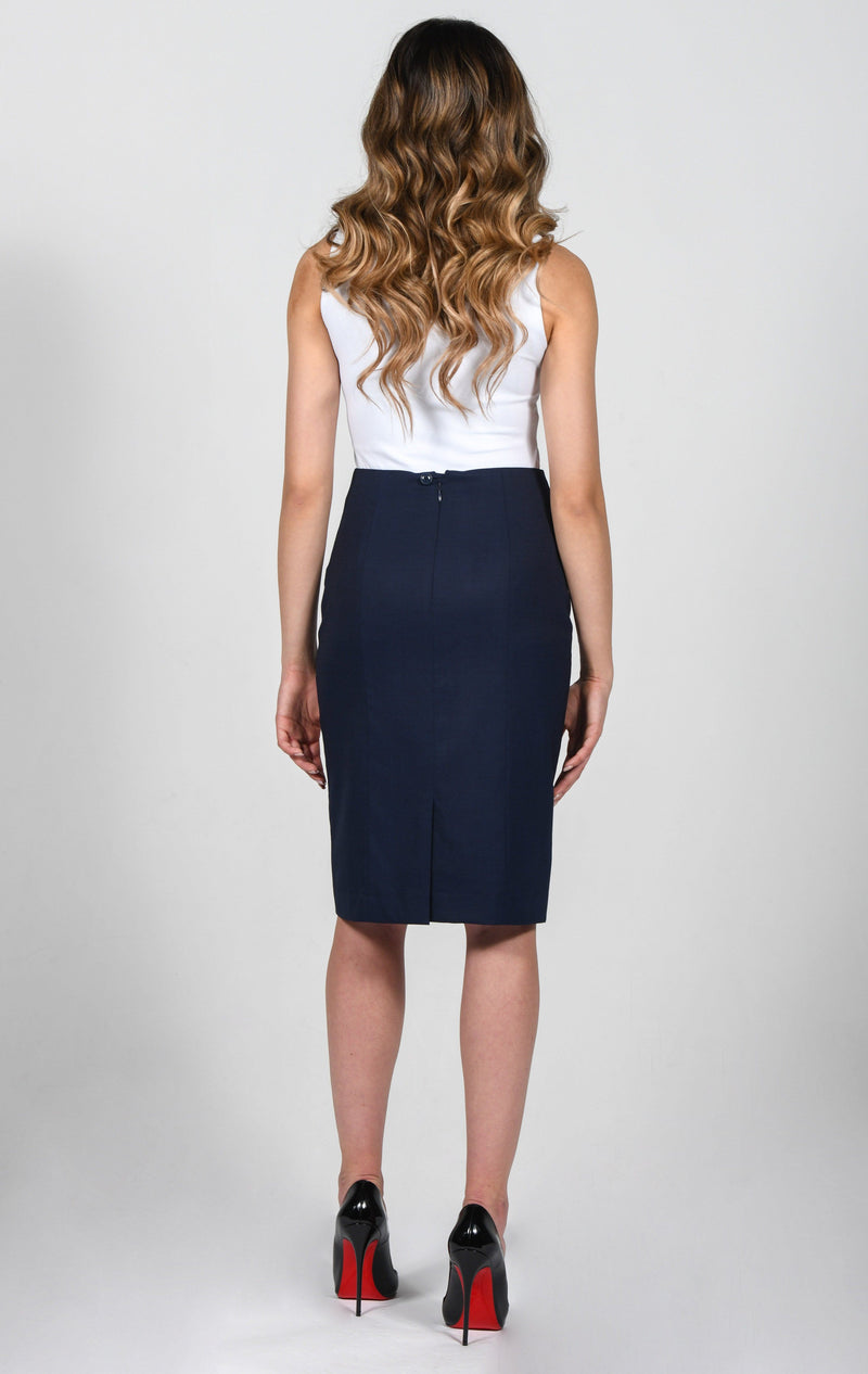 Cosiani Women's Blue Wool Skirt