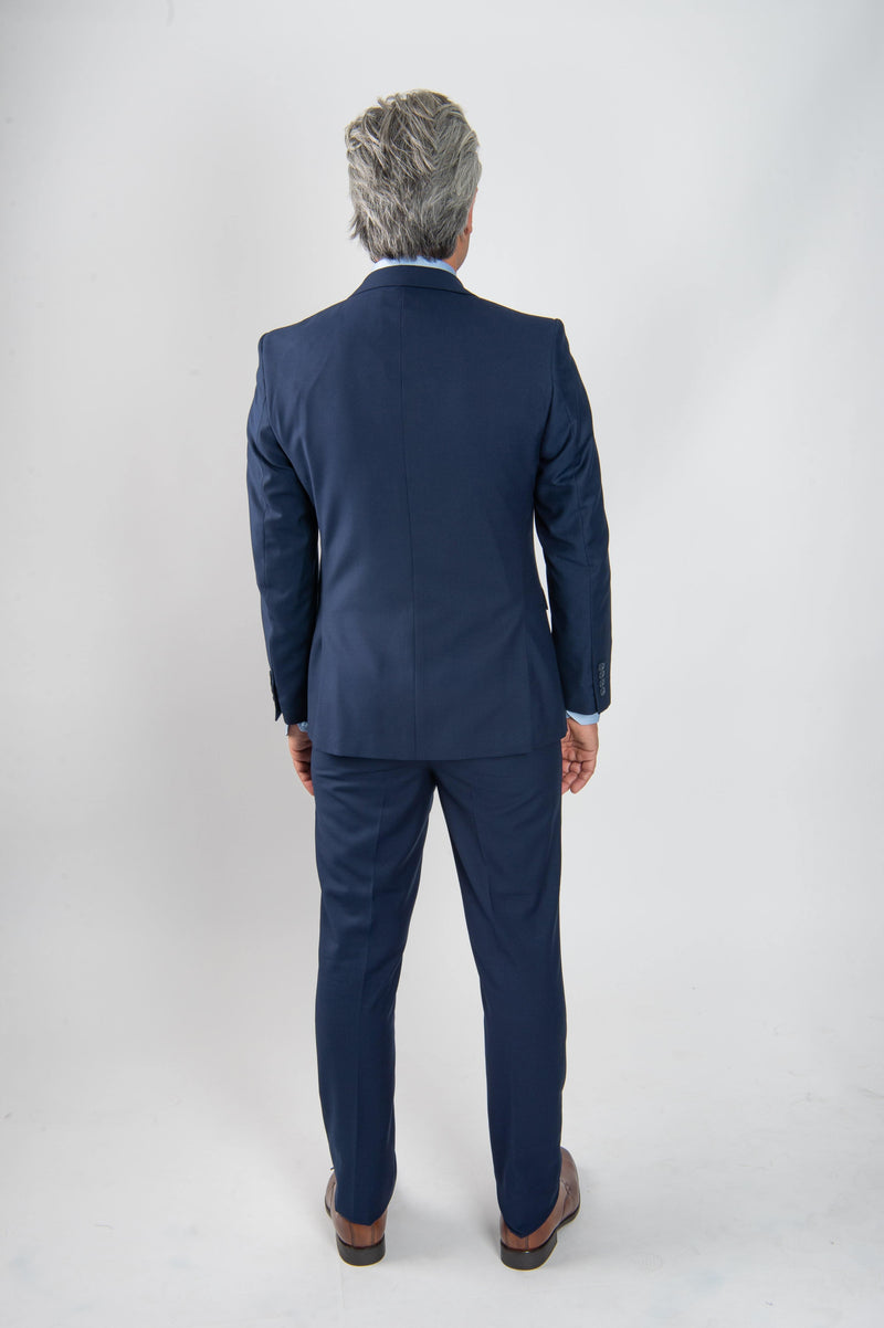 Cosiani Royal Blue Slim Fit Wool Blend Suit